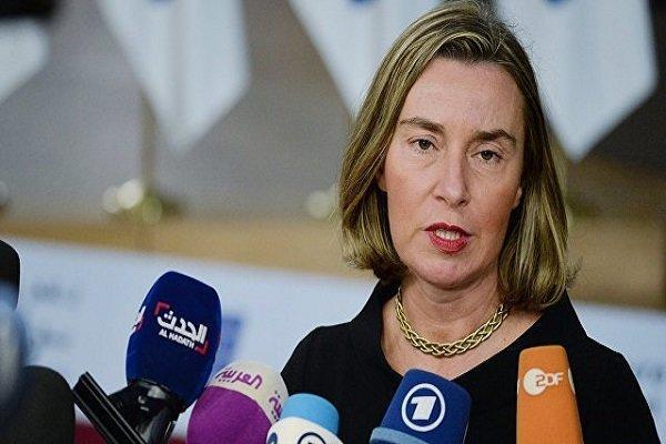 موگرینی:اروپا درصدد راه اندازی نهادی مالی برای تجارت با ایران است