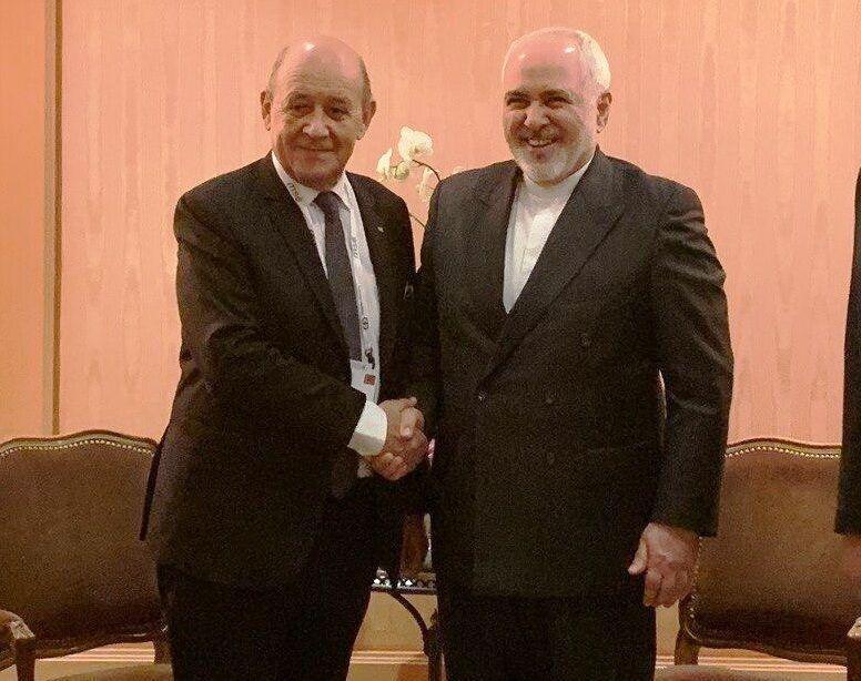 ملاقات وزرای خارجه ایران و فرانسه