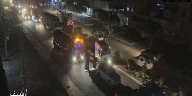 نیروهای آمریکایی با 30 کامیون سلاح و مهمات از عراق وارد شمال سوریه شدند