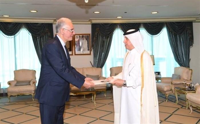 ملاقات سفیر جدید ایران با وزیرمشاور در امور خارجه قطر