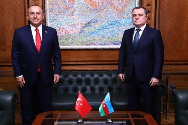 وزرای خارجه ترکیه و جمهوری آذربایجان درباره قره باغ تبادل نظر کردند