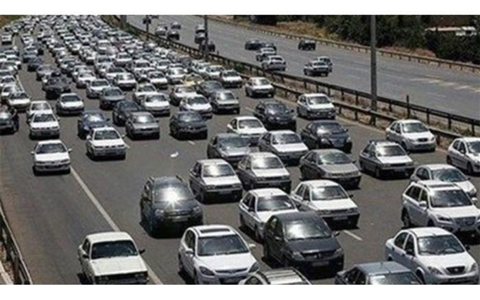 ترافیک سنگین در آزادراه قزوین - کرج - تهران