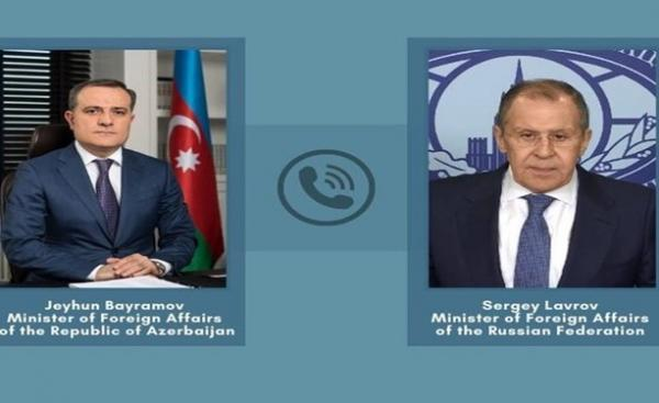 وزیران خارجه روسیه و جمهوری آذربایجان در خصوص توافق قره باغ مصاحبه کردند خبرنگاران