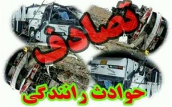 تصادف زنجیره ای در جاده تهران-ساوه 3 مصدوم به جا گذاشت