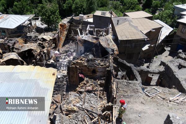 نابودی 20 منزل مسکونی بر اثر آتش سوزی در شاندیز